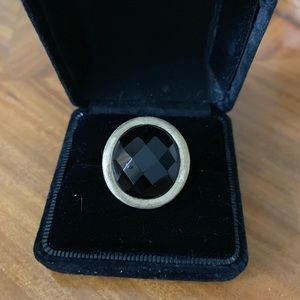 Technibond black and gold large ring size 10